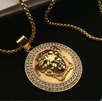 Wholesale hip silver chain for women for sale - Group buy Designer Necklaces For Men Women Luxury Hiphop Medusa Pendant Necklace Jewelry Hip Hop Style Party Accessories Gift