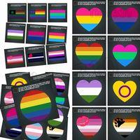 gökkuşağı filmi çıkartması toptan satış-Sıcak Pencere Çıkartmalar Gökkuşağı eşcinsel Sticker Gurur Gökkuşağı Kalp Sticker / Ayı Paw / Gökkuşağı El Gece Yansıtıcı araba Dekoratif Çıkartmalar 4743