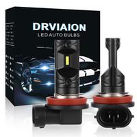 Wholesale h9 lamp resale online - kongyide Car Light H11 H8 H9 W LED Fog Light Bulbs Car Driving Lamp DRL K HID White V ML dropship m13
