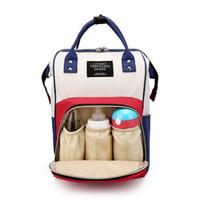 i̇ngiliz bayraklı torbalar toptan satış-Bebek Bezi Çantası Moda Mumya Doğum Nappy Çanta Büyük Kapasiteli Bebek Bolsa Maternidade Tasarımcı Anne Hemşirelik Anne Için