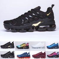 velocidad de carrera del zapato al por mayor-Nike TN Plus Vapormax air max airmax 2019 TN PLUS Zapatillas de running para hombre Mujer Negro Velocidad Rojo Blanco Antracita Ultra Blanco Negro 2019 Mejores zapatillas de deport