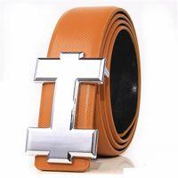 cinturones de marca de diseñador para hombre al por mayor-Cinturón de marca de moda Cuero genuino Hombres Cinturón Diseñador Lujo de alta calidad H Hebilla lisa Cinturones para hombre Para mujeres Cinturón de lujo Jeans Correa de vaca a +