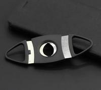 Wholesale sharp edge tool resale online - Metal cigar scissors Round head stainless steel cigar scissors Two edged metal sharp scissor Cigar Cutting Tools