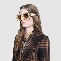 tarzı erkekler araba toptan satış-Tasarımcı güneş gözlüğü erkekler kadınlar için lüks güneş gözlüğü moda gözlük Araba sürüş UV400 Adumbral cam Kutu ve Logo ile 8164 Belirli tarzı