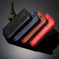 id halter flip brieftasche großhandel-Verschluss saugen ledernen Mappenkasten für das iPhone neu 5.8 6.1 6.5 2019 XS MAX XR X 10 8 7 6 Flip-Cover-Halter ID-Kartensteckplatz Magnettelefon Luxus