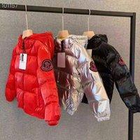 baixo, casaco, grande, meninas venda por atacado-2019 nova chegada M marca meninos inverno jaqueta para meninas para baixo parkas para baixo luz quente grande crianças casaco meninos meninas roupas 3T-11T