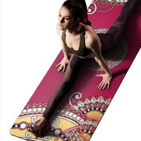 anti-gleit-gummi-pads groihandel-Yogamatte 1,5mm Naturkautschuk Hohe Qualität Wildleder Anti-Skid Faltbare Outdoor Pilates Trainingsmatten Körper Fitness Übungsblock