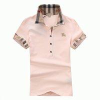 short sleeve polo shirt оптовых-Женская футболка классический с коротким рукавом летняя футболка модный бренд рубашка поло для женщин высокое качество 5 Цвет S-XXL