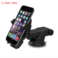 Wholesale abs holder for sale - Group buy E FOUR Car Phone Holder ABS Flexible Adjustment Universal Car Bracket Mobile Accessories Projector for Smartphone Holder Suction