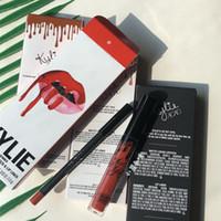 Wholesale lips kylie color for sale - Group buy kylie Lipkit Liquid Matte Lip Gloss Cosmetics Faced Makeup colors Lip Makeup set