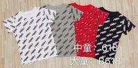 mulheres bonitas s venda por atacado-Verão nova moda infantil T-shirt confortável superior do corpo bonito de manga curta bonito padrão de impressão das mulheres B618