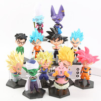 Wholesale toys online - Super Saiyan Action Figures Dragon Ball Z Doll Son Gohan Vegeta Collectible Model Per Suit tj F1