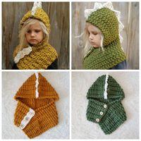 Wholesale knitted dinosaur for sale - Group buy Dinosaur Beanie Hats for child and kids coarse wool Winter Hat Bonnet Designer Beanies Brand Knitted Caps Skull Cap cm ZZA835