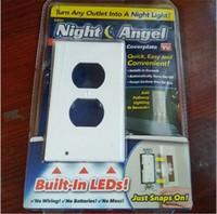 ingrosso angeli di plastica-Trumpet auto Sensore di movimento Luce in plastica Colore bianco Luci LED Wireless Night Angel 6 8ly E1