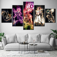 Wholesale frames for kids art resale online - HD Prints Artwork Pictures Home Decor Pieces Animation Painting Canvas Modular Poster For Kids Room Wall Art Frame