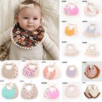 handtücher für baby mädchen großhandel-Baby Boy Girl Floral Cotton Lätzchen wasserdicht Speichel Handtuch Lätzchen Fütterung Rülpsen Schürze Bandana
