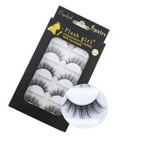 Wholesale d box price for sale - Group buy Flash gril brand F810 F850 factory price models pairs Eye Lashes Natural pairs D mink eyelashes with black box