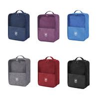 Wholesale shoe bags for travel for sale - Group buy Portable Bag for Shoes Storag Waterproof Nylon Sorting Pouch Zip Lock Travel Luggage Organizer Home Closet Organizer Accessories