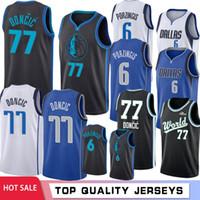 0bc2dc496 6 Kristaps   Porzingis  Dallas Basketball Jerseys Mavericks 77 Luka Blue  Doncic 41 Dirk   Nowitzki White Black