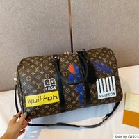 correa de bolsa de equipaje al por mayor-(Correa sin tirantes) marcas de bolsa de viaje de cuero 45cm diseñador Maletas