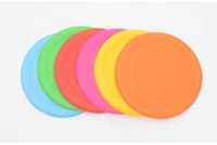 Wholesale frisbee disk for sale - Group buy Pet Dog Bite Resistant Frisbee Disk Soft Silicone Flying Disc Pet Toy Training Silicone Color Selection Quickily Delivery
