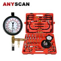 ingrosso miglior motore bmw-Migliore qualità TU-443 manometro misuratore di pressione del carburante Kit di prova del motore Kit di iniezione del carburante pompa tester