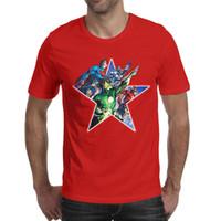 grüne übermenschhemden großhandel-Superman Batman Flash Green Lantern rote Männer Kurzarm T-Shirts billige T-Shirt 100% Baumwolle niedlichen lustigen Männer Tops Pullover