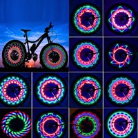 Wholesale display cycling bicycle resale online - 30 pattern Bike light Bicycle wheel light double display flash RGB LED light Bicycle spoke lamp Night riding Cycling lighting
