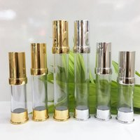 Wholesale airless cosmetic bottles for sale - Group buy 5ml ml Empty Gold Silver Airless Lotion Cream Pump Container Travel Cosmetic Skin Care Cosmetic Bottle Airless Dispenser LX1922