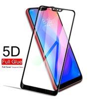 apple iphone s2 al por mayor-Protector de pantalla de cubierta completa para Xiaomi redmi note6 pro redmi 6 Y2 S2 xiaomi poco f1 8 5D película de vidrio templado curvado