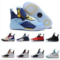 ingrosso migliori scarpe da basket-2019 New Best Jumpman XXXIII 33 Scarpe da basket Uomo 33s Gold / Championship MVP Finali allenamento Sneakers Sport Scarpe da corsa Taglia 7-12