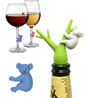 Wholesale drink markers resale online - News Silicone Cup Recognizer Reusable Koala Shape Glass Identifiers Drinking Buddies Markers for Home Party Set