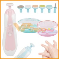 Wholesale automatic nail manicure resale online - Baby Manicure Set With LED Front Light Baby Automatic Baby Electric Nail Trimmer Infant Nail Care Scissors Newborn Electric Manicure Kit