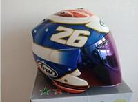 Wholesale pink full face motorcycle helmet resale online - 2019 ARAI Dual Use Skull Motorcycle Helmet Retro Casque Motorbike Half Face Helmet