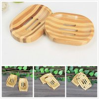 Wholesale bamboo wooden boxes resale online - Natural Bamboo Wooden Soap Dish Wooden Soap Tray Holder Storage Soap Rack Plate Box Container for Bath Shower Bathroom