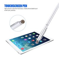 Wholesale pen touch tablets resale online - Double Touch High precision Ultra fine Head Stylus Mobile Phone Tablet Touch Screen Pen Painting Stylus