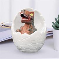 casa do mouse 3d venda por atacado-Dinosaur Egg 3D Night Light Controle recarregável lâmpada 16 cores mudam Remoto Luz LED criativa do presente lâmpada CRESTECH inteligente mesa da casa