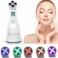 dispositivos de piel de radiofrecuencia al por mayor-Facial Skin EMS Mesoporation RF Radiofrecuencia Facial LED Fotón Dispositivo de cuidado de la piel Lifting facial Tighten Beauty Machine RRA1426