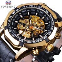 Wholesale watch military army automatic for sale - Group buy FORSINING Brand Fashion Watches Luxury Sports Automatic Mechanical Skeleton Watch Men PU Leather Strap Military Army Wristwatch SLZe177