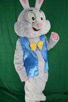 traje de coelho de páscoa venda por atacado-2019 venda quente traje da mascote do coelhinho da Páscoa do vestido de fantasia animais engraçados bugs coelho mascote tamanho adulto traje da mascote do coelho