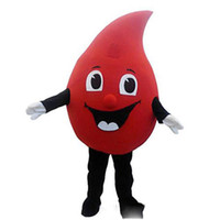 Wholesale christmas cartoon mascot for sale – halloween Halloween Red Drop of blood Mascot Costume Top Quality Cartoon Anime theme character Christmas Carnival Party Fancy Costumes