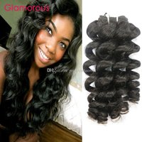 ingrosso capelli umani originali-Glamorous Malaysian Human Weaves Weaves 4 Bundles capelli umani originali capelli umani 12-34inch peruviano malese Oceano Indiano onda in magazzino