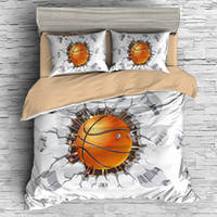 königin bettwäsche setzt für jungen großhandel-3d basketball druck bettwäsche set luxus sport bettbezug set queen size boy bett set drop shipping
