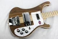 vintage baslar toptan satış-2019 Bas Gitar Ricken 4001 NADIR Saydam CEVIZ bağbozumu 4000 4003 4 Dize Elektrik Bas Gitar Boyun Gövde Tek PC Boyun Vücut