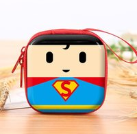 ingrosso logo del batman bat-Hot Batman Logo Portamonete in silicone Novità Cartoon Anime Hero Bat Man Superman Spiderman Ironman Portamonete Kids Mini Carino Portafoglio