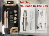 18k geführtes licht großhandel-Lippenstift-Augenbrauen-Haar-Entferner-Mikropräzisions-Goldüberzogener Entferner-Epilierer-Augenbraue-Trimmer-Rasierer-Rasierapparat-Rasiermesser errichtet im LED-Licht