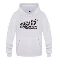 sudaderas de voleibol al por mayor-Evolución del voleibol divertido regalo creativo sudaderas hombres 2018 para hombre con capucha Fleece Pullover Hoodies