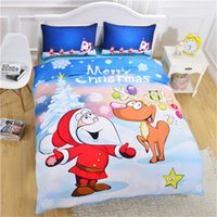 Wholesale christmas bedding sets king for sale - Group buy 3D Print Bedding Christmas Bedding Set Twin Full Queen King Size Adult Quilt Cover Quilt Bed Sheets Christmas Gift