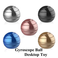 Wholesale novelty stress balls for sale - 5 Colors Gyroscope Ball Desktop Toy Vortecon Kinetic cm Stress Relief Aluminium Alloy Decompression Toys Novelty Items CCA11429