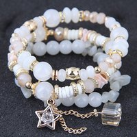 Wholesale tribal jewelry for women for sale - Group buy 6 Colors Braided Bracelet Ethnic Tribal Wrist Bracelets Bohemian Bead Bracelets For Women Girls Stretch Multilayered Bracelet Jewelry M65Y